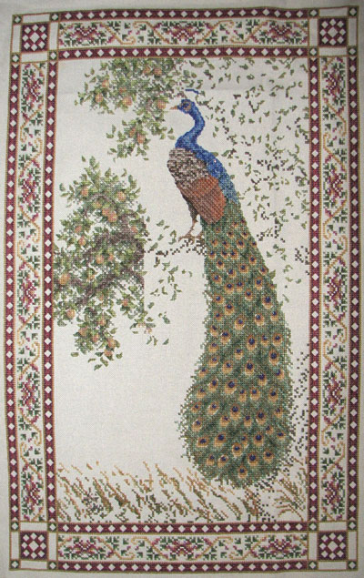 peacock tapestry whole